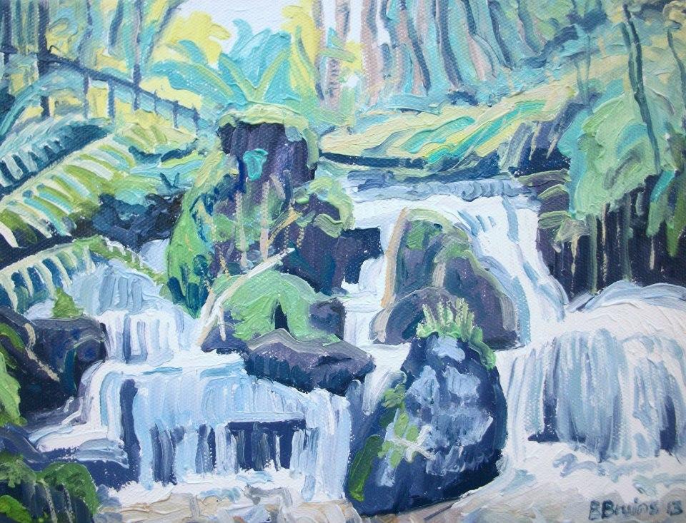 101 Bert Bruins Heddon River in Autumn - Oil on Canvas