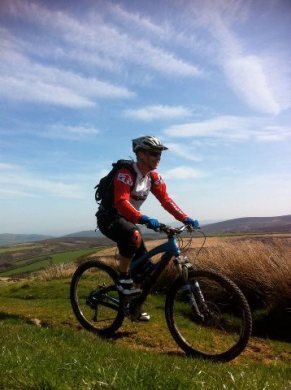 Mountain Biking across Lucott Moor towards Lucott Cross. Discover Moor. http://www.discovermoor.co.uk/