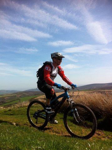 Mountain Biking across Lucott Moor towards Lucott Cross. Discover Moor.http://www.discovermoor.co.uk/