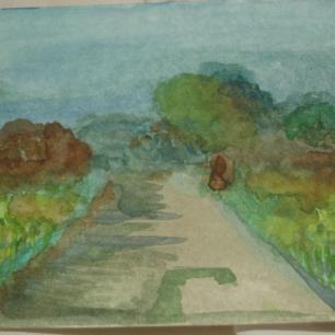 Road to Tarr Steps - by Melanie Maddocks (Watercolour)