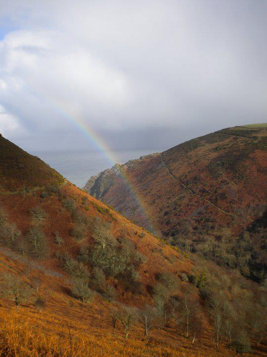 Rainbow in the Heddon Valley by Marcus Wilde