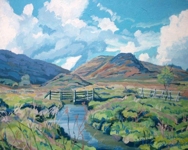 At Cow Castle, Exmoor 20%22 x 16%22 Acrylic on canvas