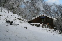 Bunkhouse in snow
