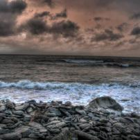 High Tide in April 2012, Lynmouth Harbour (Jon Coole)