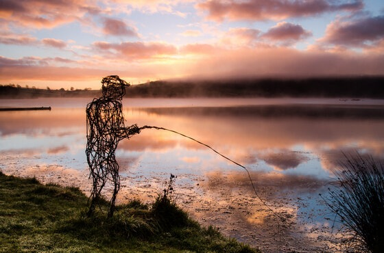 Fisherman at Wimbleball Lake. By Bob Small.