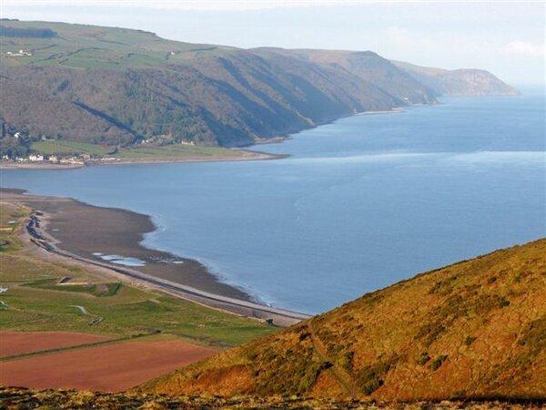 Looking across Bossington Bay along Exmoor's Coast. Photo Nigel Hester.