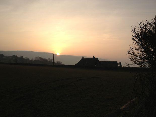 101 Elke Winzer Sunset over Porlock Hill