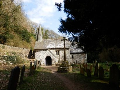 The Culbone Church is the smallest complete Parish Church in England (total lenght of 35 feet - 10.7 m), and nestles in a beautiful little valley near the coast.