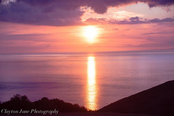 Sunset - Photo was taken by Clayton Jane on his way to Porlock