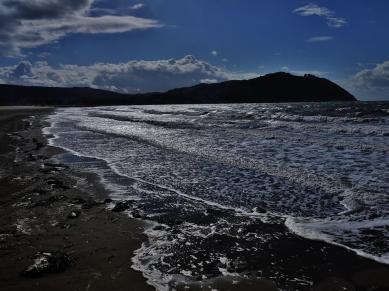 At Minehead Beach. Photo by Rosie Schneider