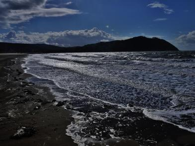 At Minehead Beach. Photo by Rosie Schneider