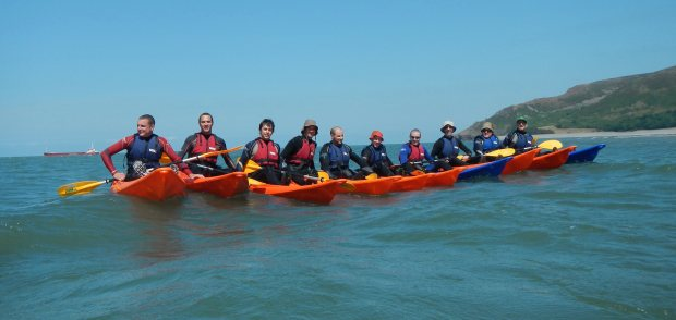 Sea kayaking with Exmoor Adventures a few days ago - enjoying the glorious Exmoor weather!