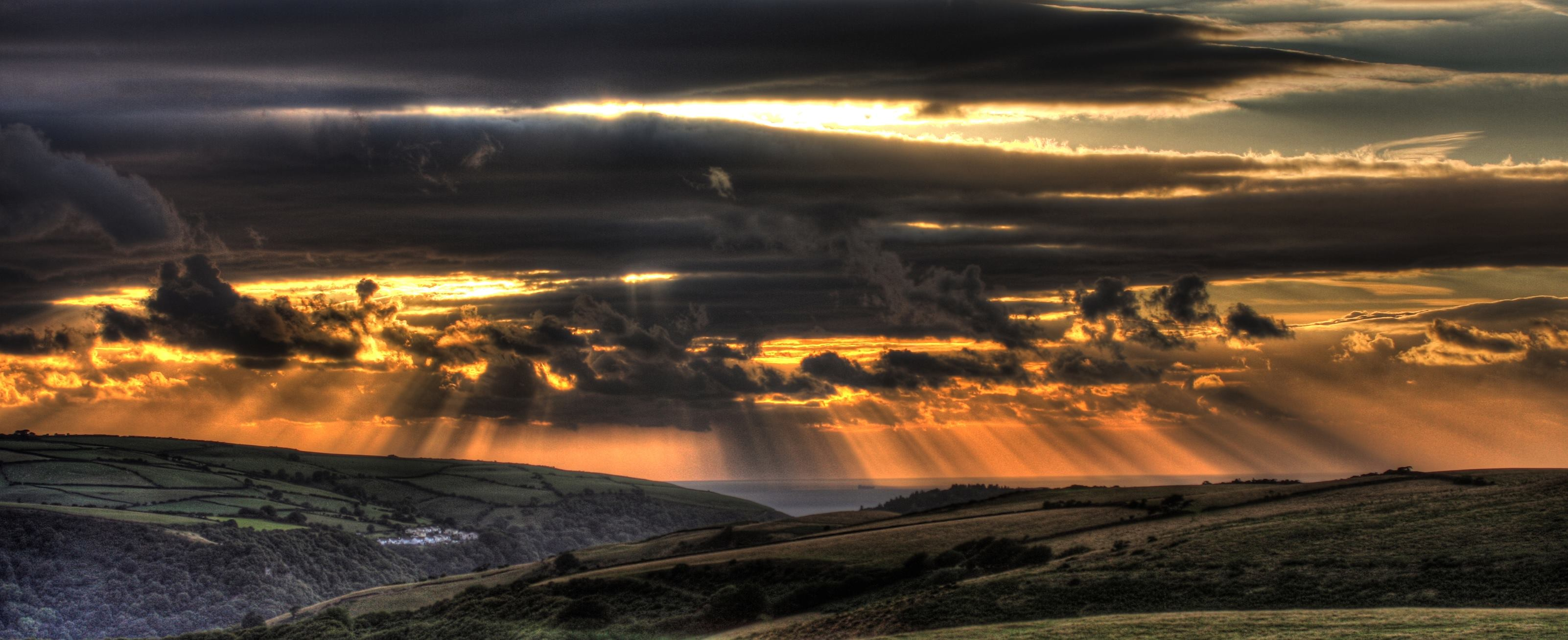 Looking towards Lynton. Spectacular photo by Peter French taken in early September.