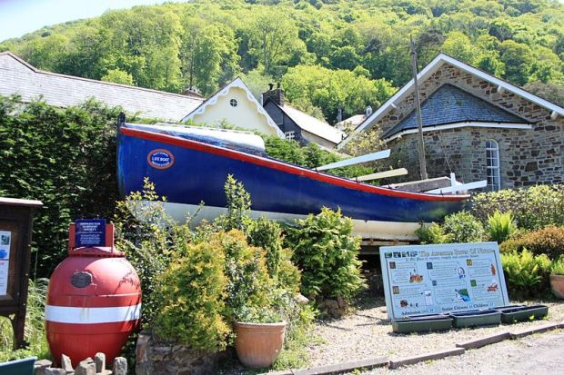 The Docea Chapman is displayed at Lynmouth as a reminder of the Louisa and other Lynmouth lifeboats