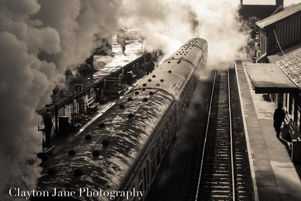 West Somerset Steam Train leaving Bishops Lydeard. Photo by Clayton Jane