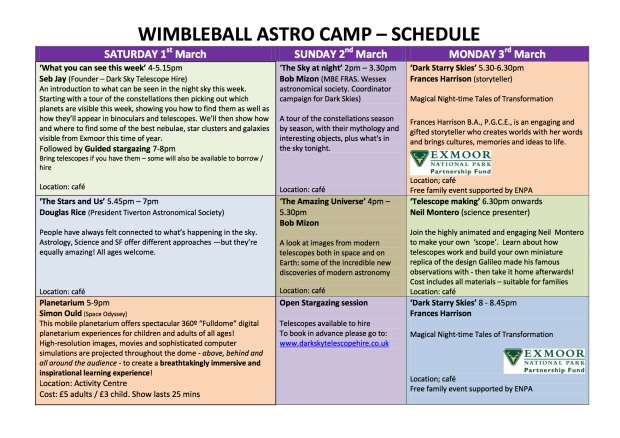 WIMBLEBALL ASTRO CAMP PARTY schedule new