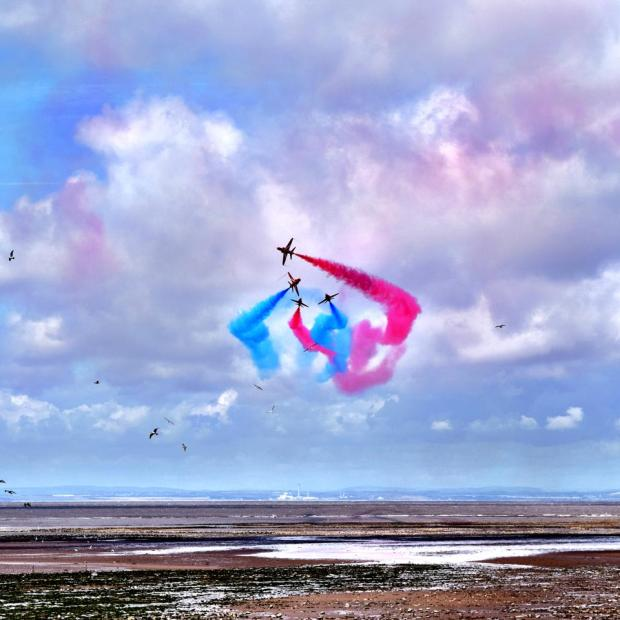 302 Millie Jane Red Arrows over Minehead