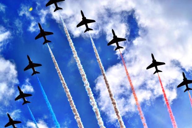303 Millie Jane Red Arrows over Minehead