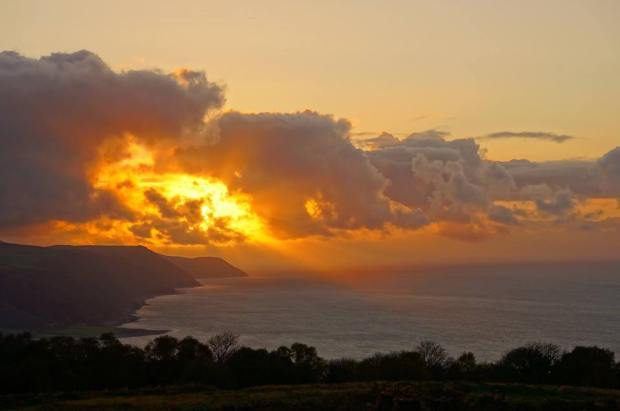 303 Paul Waby Sunset over Porlock Bay