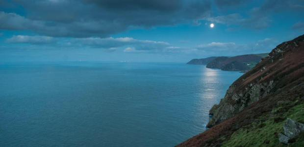 The Exmoor coast as seen from Heddons Mouth. Photo by John Spurr