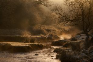 John Spurr Steaming river on a frosty Exmoor morning