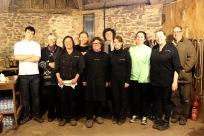 Claire's Kitchen Team: Bradley Oakley, Cathy Powell (Exmoor Owl and Hawk Centre), Claire Lynch, Brenda Virgin, Jane Ems, Joel Lynch, Tara Jones, Lucy Watters, Joanne Morten, Rod (Exmoor Owl and Hawk Centre)