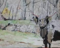 103 Rebecca Klingenstein - Mixed media 55cm 45cm canvas, Two Moors,