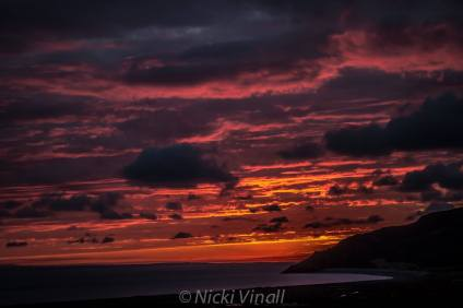 118 Nicki Vinall Sunrise over Hurlstone Point from West Porlock.