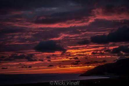 118 Nicki Vinall Sunrise over Hurlstone Point from West Porlock.