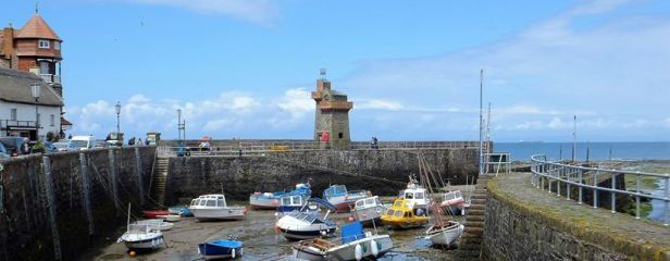 0508-david-reynolds-lynmouth-harbour-at-low-tide