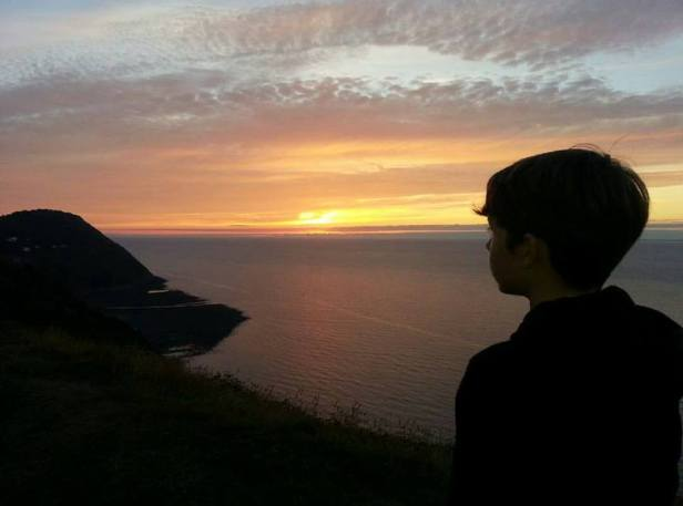 0608-cindy-kitchker-my-son-enjoying-the-sunset-on-countisbury-hill