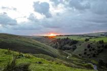 1108-linda-thompson-looking-down-on-the-river-barle-while-the-sun-is-setting
