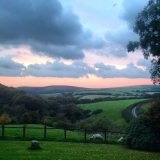 827-sophie-bee-view-from-cranscombe-farm-this-evening-looking-towards-foreland-point