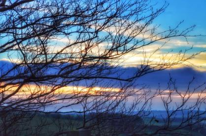102-linda-thompson-on-the-way-home-near-challcombe-beautiful-sky