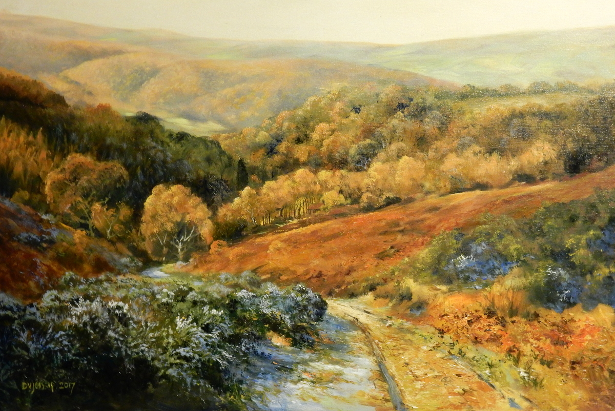 Last of the Frost in Selworthy Combe - Original Oil Painting by David Jessup