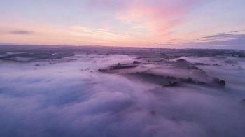 0816-001 Keanu Drone Fog over Wimbleball Lake