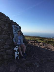 69 Jen Gill Skewiff at the top of Dunkery