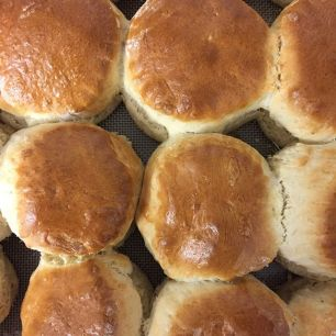 Plain scones by Periwinkle Tearoom