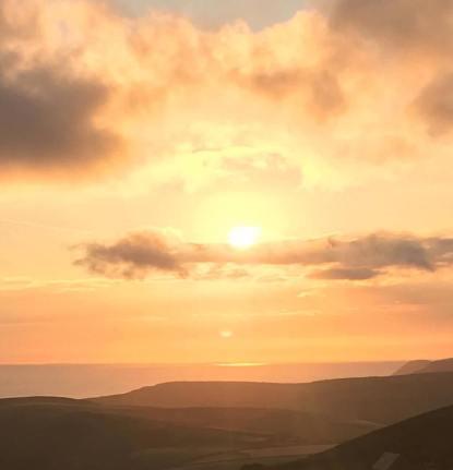 0810-001 Carole Parsons Sunrise at Holdstone Down