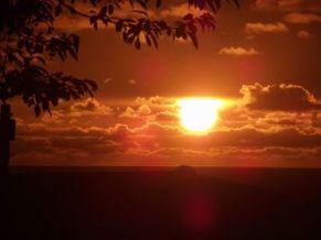 0813-001 Stuart Hubster Lancaster Sunset at Doniford Bay, 7 Augu