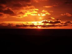 0813-002 Stuart Hubster Lancaster Sunset at Doniford Bay, 7 Augu