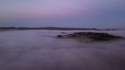 0816-004 Keanu Drone Fog Wimbleball Lake