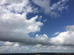 0818 - 001 Andrea Corrie Big sky this afternoon near haddon hill — at Haddon Hill