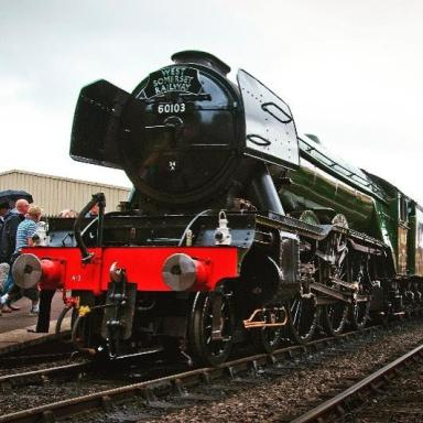 Today we welcomed the world's most famous train to the West Country! The Flying Scotsman on the West Somerset Railway! . . #train #flyingscotsman #somerset #worldfamous #MilesMoment #westcountry #press #pressevent #pr #tea #milestea #exmoor #coast #engine #steamtrain 📷: @miles_tea_coffee