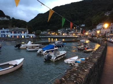 0907 Tony Gee September 7th - a slightly stormy Lynmouth Harbour