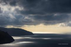0917 Sandy Spaenhoven Dark skies over Exmoor. View from Foreland Point.