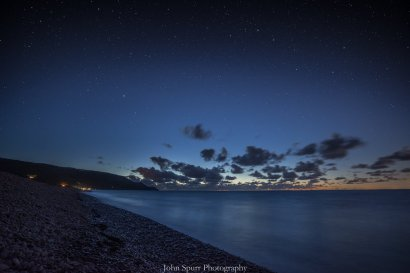 0925 John Spurr Which constellation can you see?! Today is the equilux, when night and day are equal length. Here's a starry Porlock Bay from Bossington beach