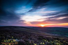 Sunset from Dunkery Beacon