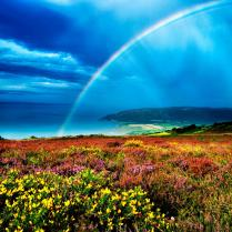 104 Rob Hatton Porlock Bay with a rainbow after a storm Entry No 2