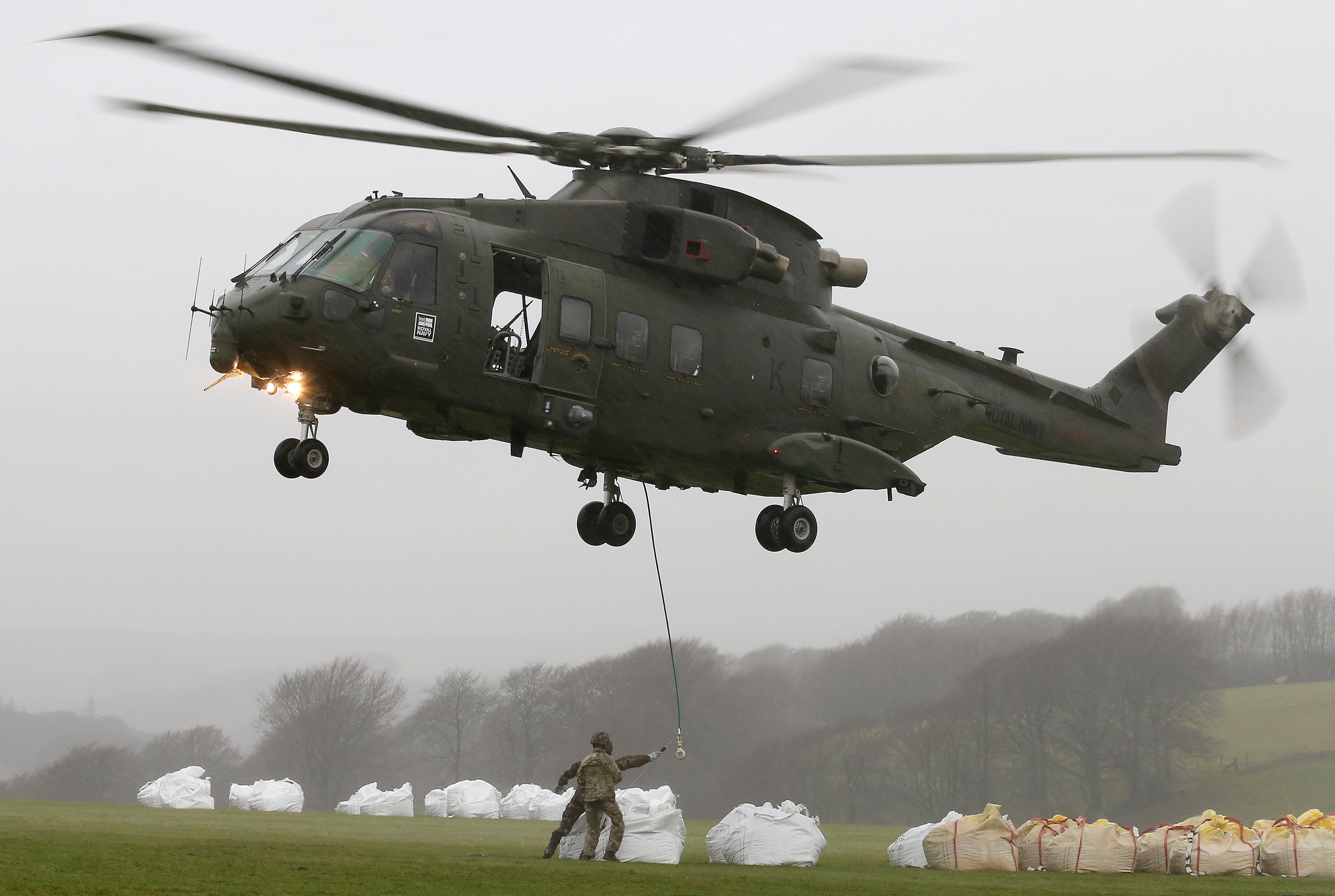 MERLIN HELICOPTERS HELP MEND EXMOOR'S PATHS